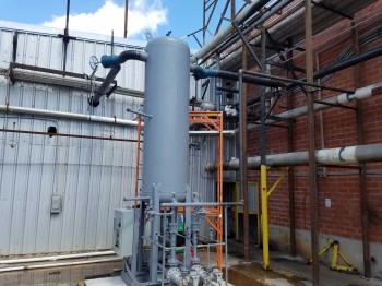 Isotherm Vertical Ammonia Recirculator Package at a Juice Plant