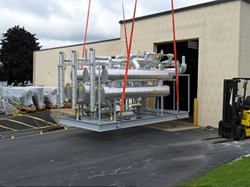 Toluene recovery and cooling package